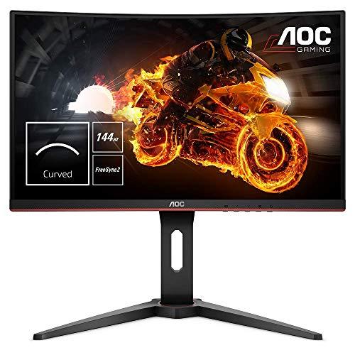 AOC Gaming C24G1 59,9 cm (23,6 Zoll) Curved Monitor (FHD, HDMI, 1ms Reaktionszeit, DisplayPort, 144 Hz, 1920 x 1080 Pixel, Free-Sync) schwar