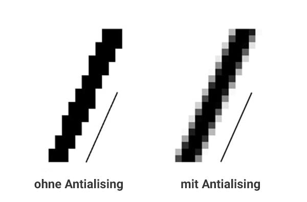Was ist Anti-Aliasing - Antialising