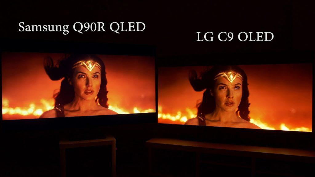 Kontrast - QLED vs OLED